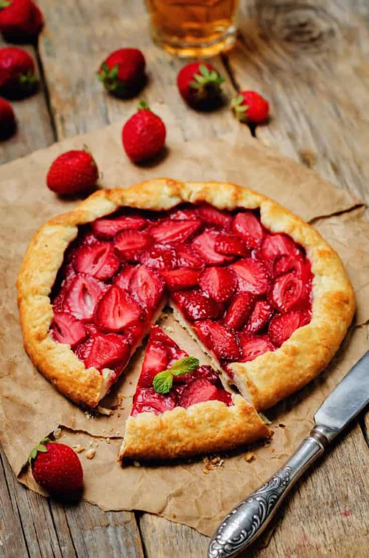 Easy Summer Rustic Strawberry Galette