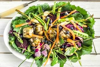 An Antipasto Style Summer Garden Roasted Salad | 31Daily.com
