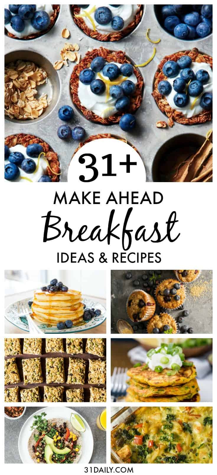 31+ Incredible Make Ahead Breakfast Recipes and Ideas | 31Daily.com