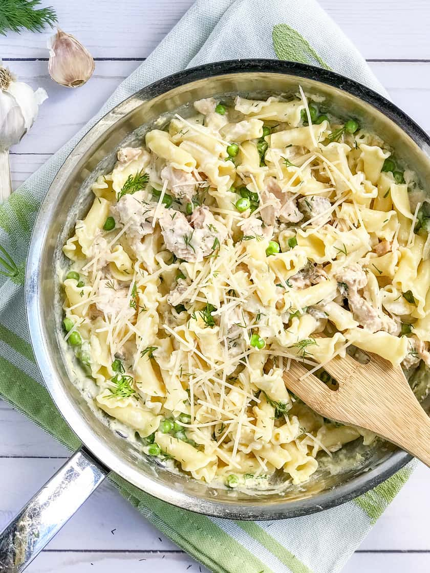 Creamy Salmon Pasta with Peas, Dill and Creme Fraîche   31Daily.com