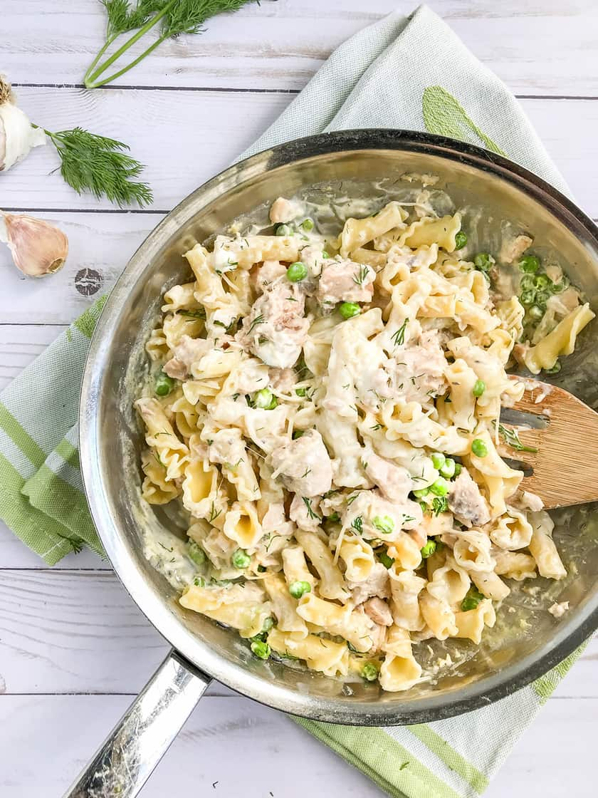 Creamy Salmon Pasta with Peas, Dill and Creme Fraîche | 31Daily.com