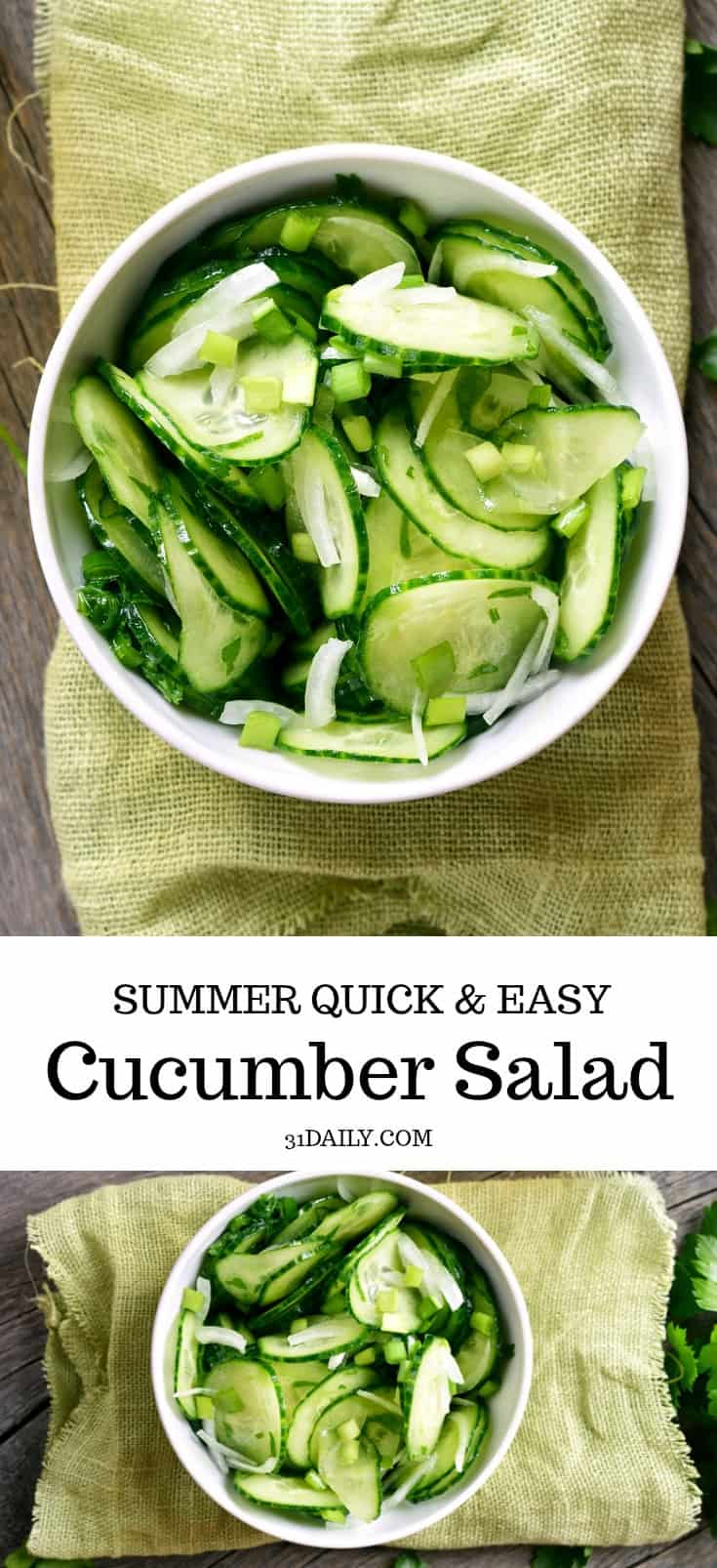 A Quick Cucumber Salad You'll Make All Summer Long | 31Daily.com