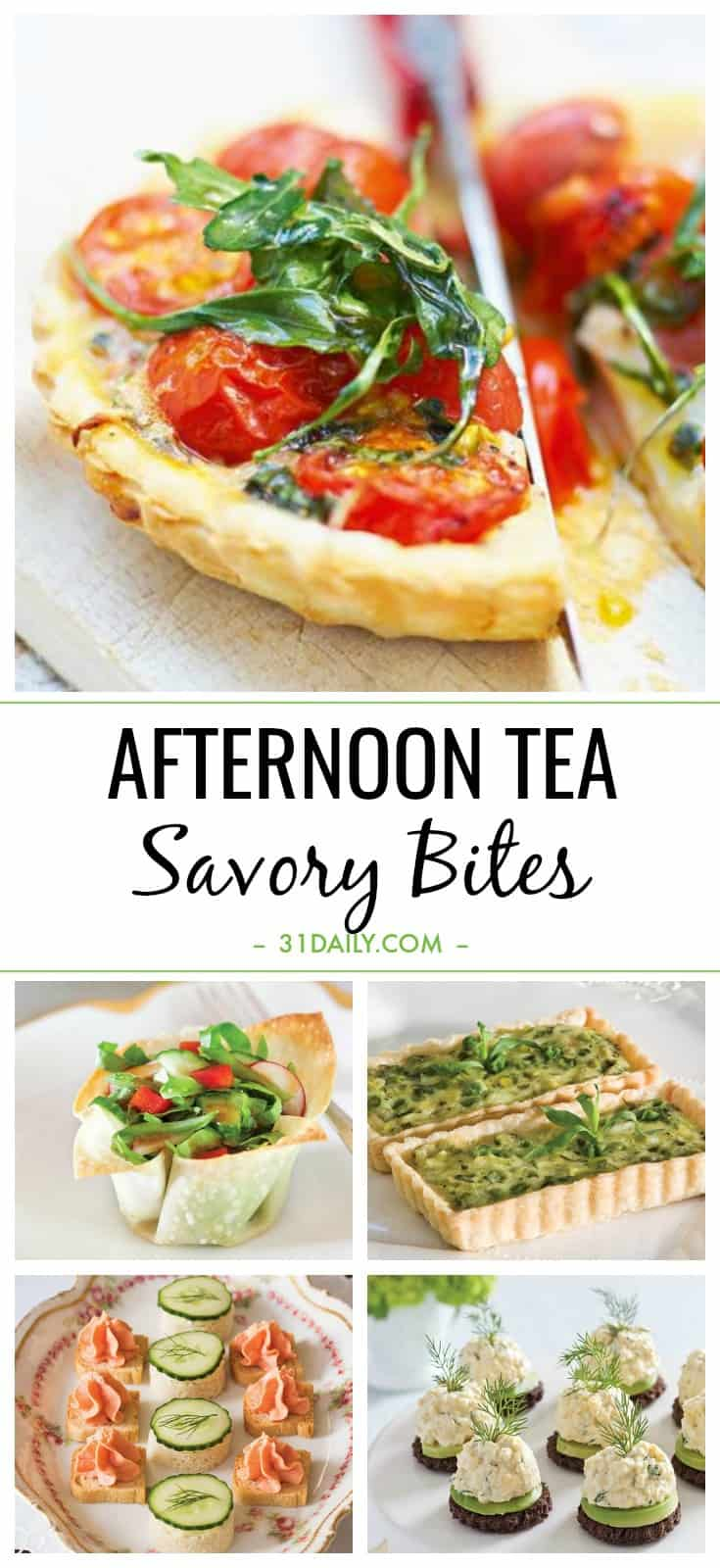 Easy Afternoon Tea Savory Bites: Recipes and Ideas | 31Daily.com
