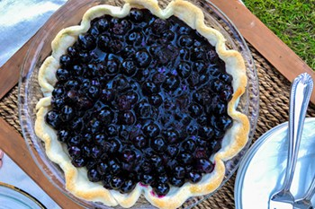 Fresh and Easiest Ever Open Face Blueberry Pie | 31Daily.com