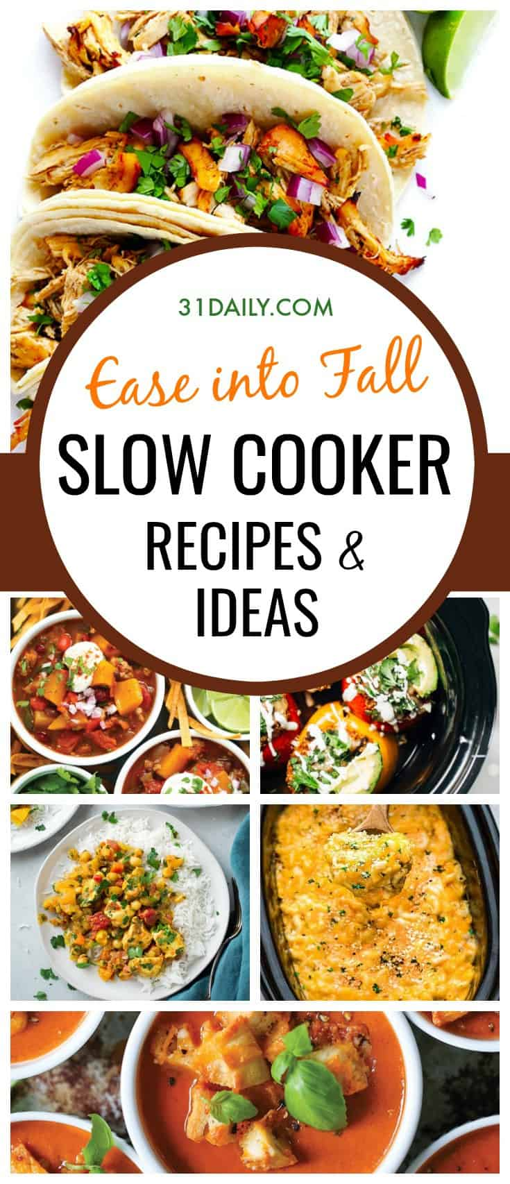 Slow Cooker Recipes and Ideas to Ease into Fall | 31Daily.com