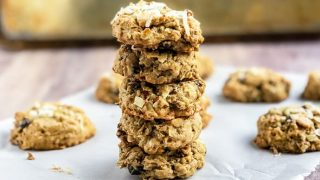 Oatmeal Bran Breakfast Cookies with Coconut and Almonds
