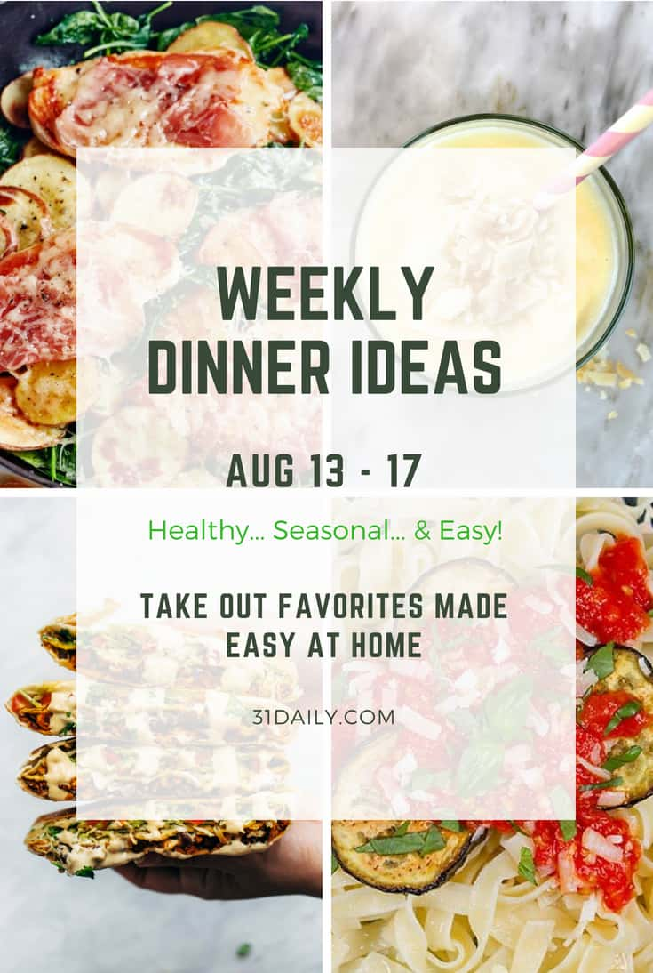 Weekly Dinner Meal Plan: Takeout Favorites Made Easy at Home | 31Daily.com