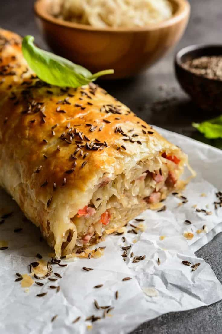 German Krautstrudel: An Easy Savory Cabbage Roll