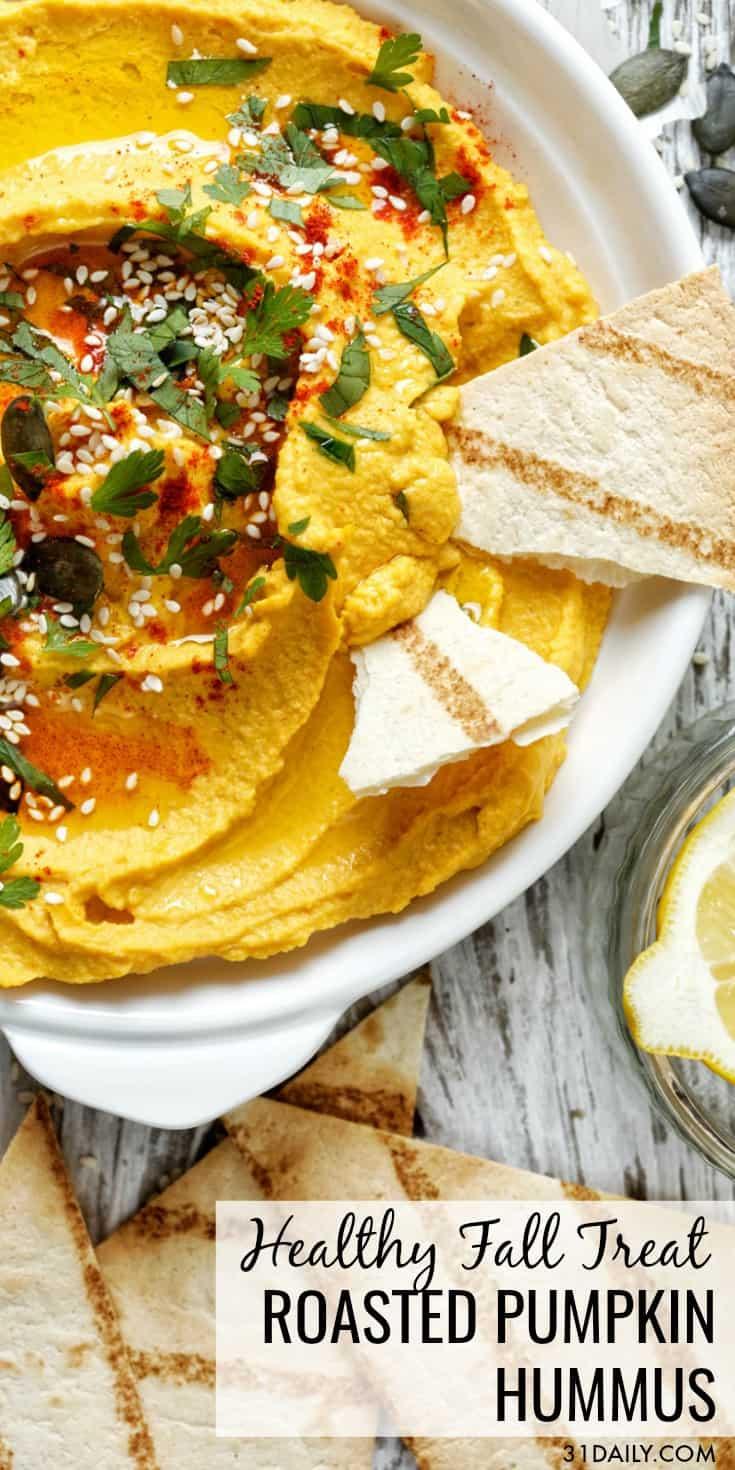 Roasted Pumpkin Hummus: A Healthy Fall Treat | 31Daily.com