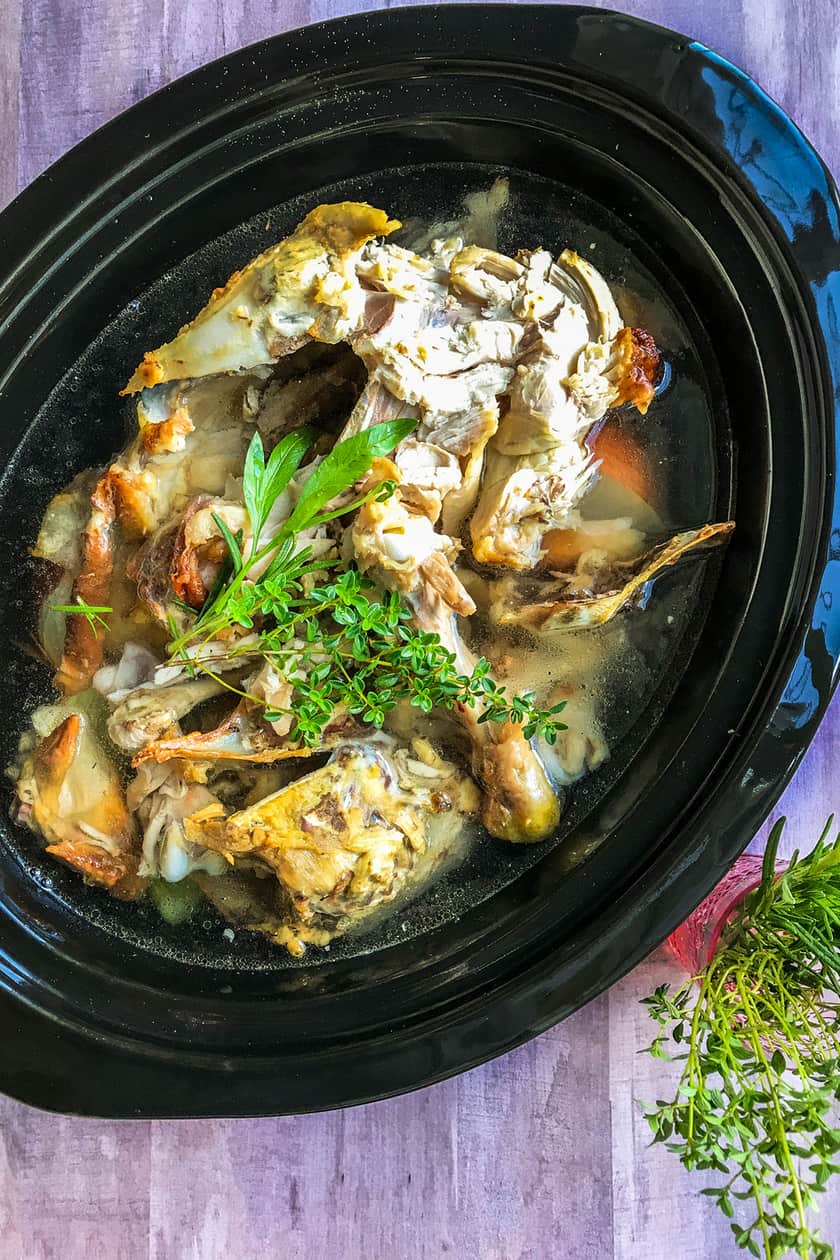 Slow Cooker Chicken Bone Broth or Stock | 31Daily.com