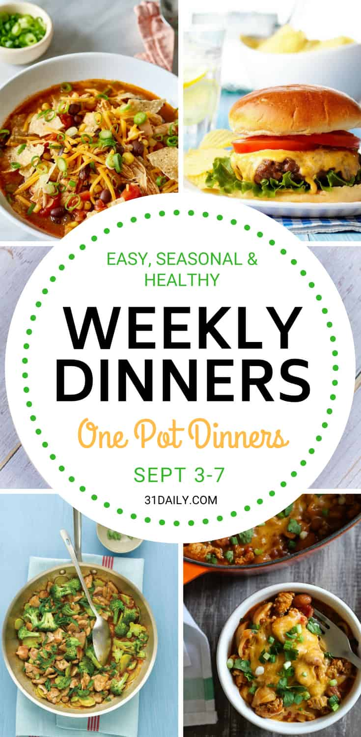 Weekly Dinners Meal Plan // Week 36: One Pot Dinners | 31Daily.com
