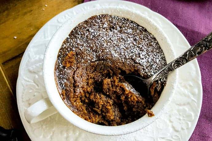 2 Minute Gingerbread Cake in a Mug