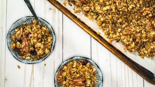Slow Cooker Pumpkin Spice Granola with Maple, Dates and Pecans