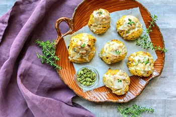 Easy Drop Pumpkin Scones with Thyme | 31Daily.com