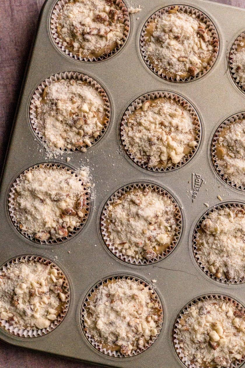 Maple Pecan Oat Muffins with Streusel Topping | 31Daily.com