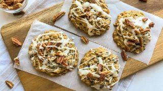 Maple Pecan Oatmeal Raisin Cookies