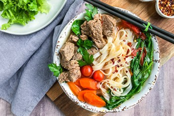 Asian Beef and Vegetable Soup with Pad Thai Noodles | 31Daily.com