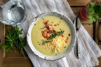 Slow Cooker Cream of Potato Soup | 31Daily.com