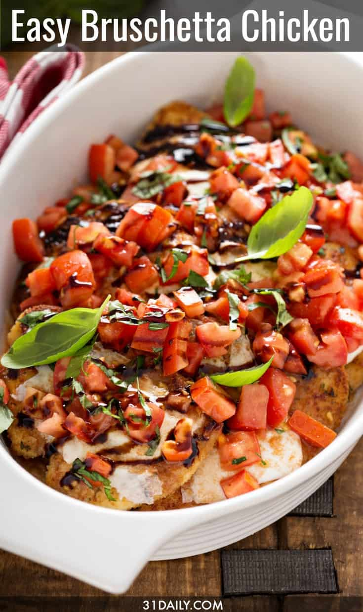 Easy Bruschetta Chicken Bake | 31Daily.com