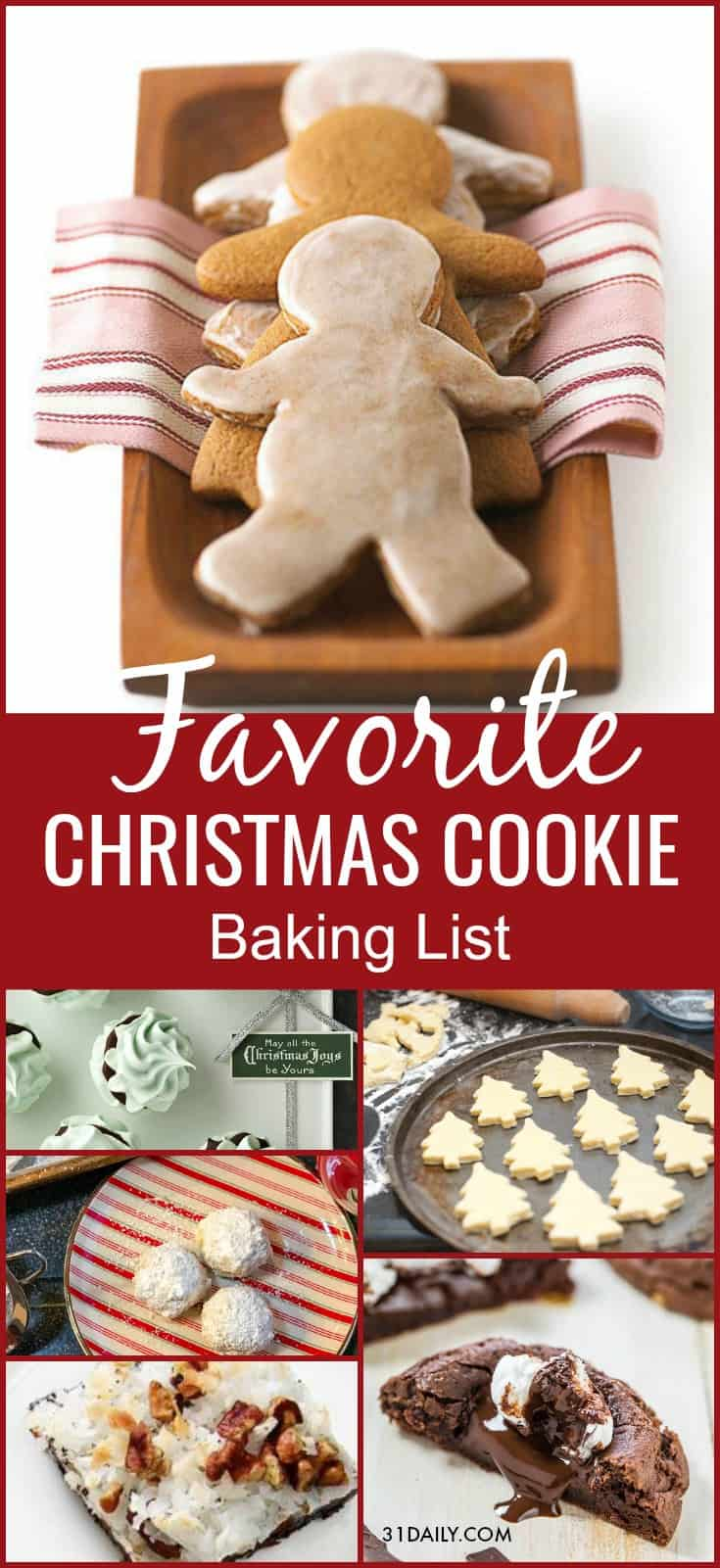 Favorite Christmas Cookies Baking List | 31Daily.com