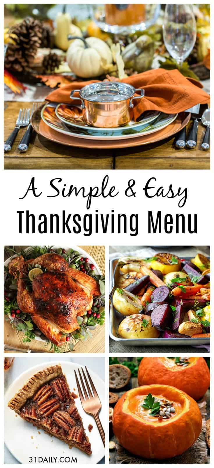 An Easy Thanksgiving Menu | 31Daily.com