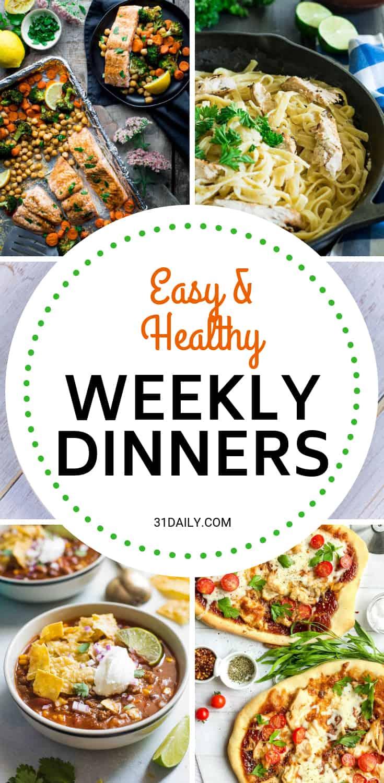 Weekly Dinner Meal Plan // Week 48 | 31Daily.com