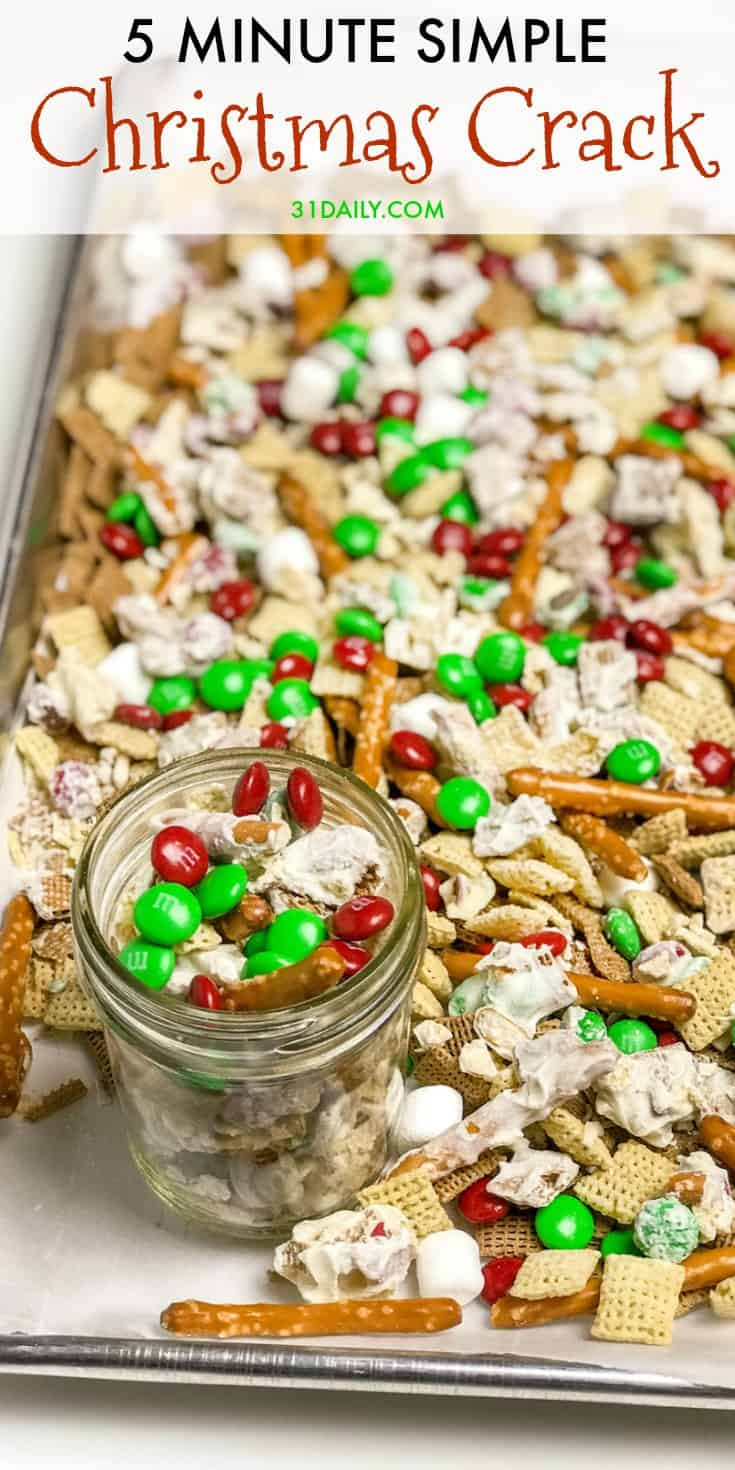 5 Minute Christmas Crack: A Simple Sweet and Salty Snack | 31Daily.com