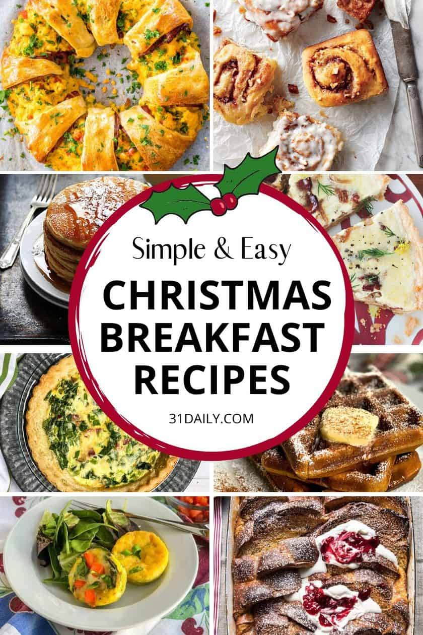 Pinterest Pin Christmas Brunch Recipes