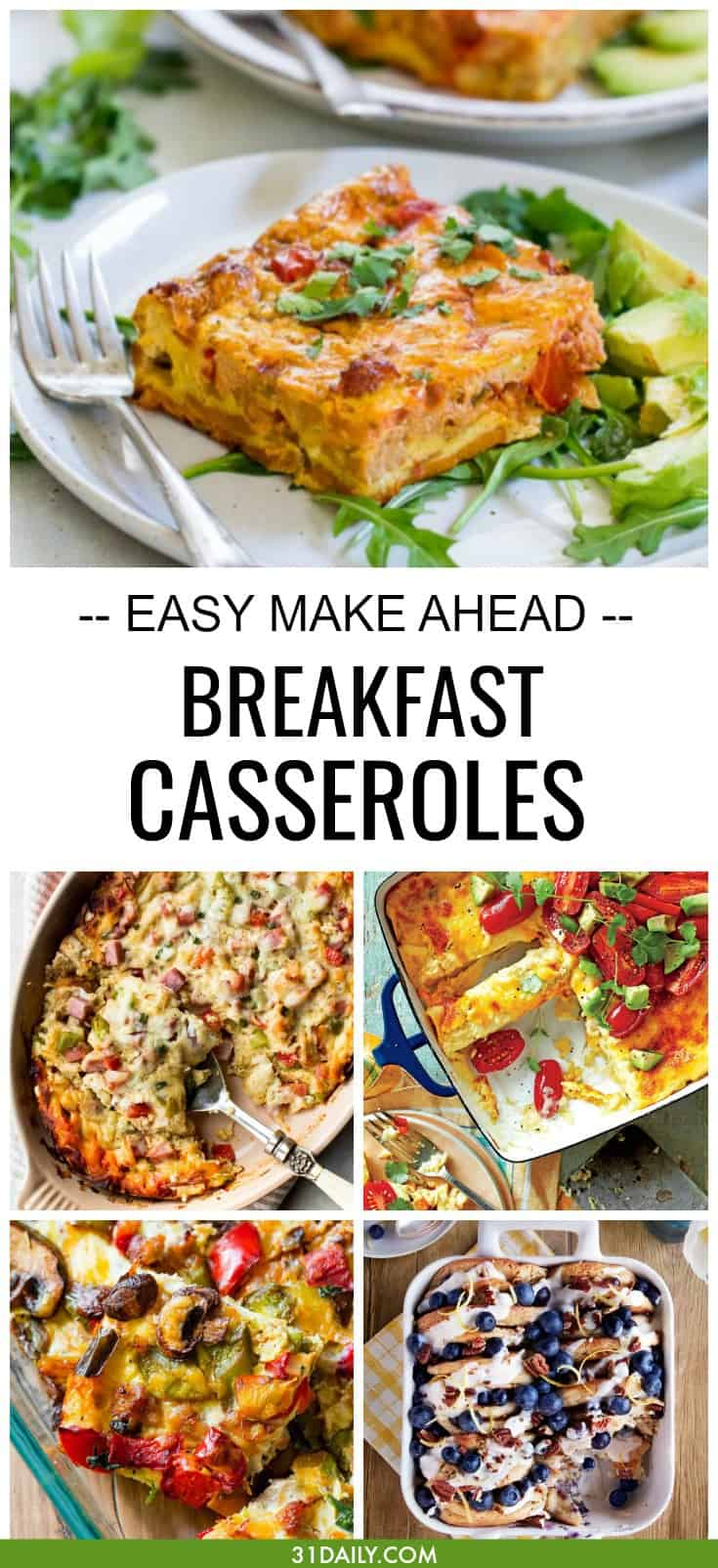Make Ahead Breakfast Casseroles to Feed Your Crowd | 31Daily.com