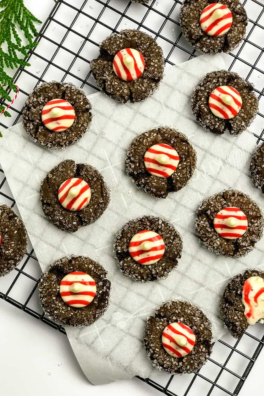 Peppermint Mocha Chocolate Blossom Cookies 31 Daily