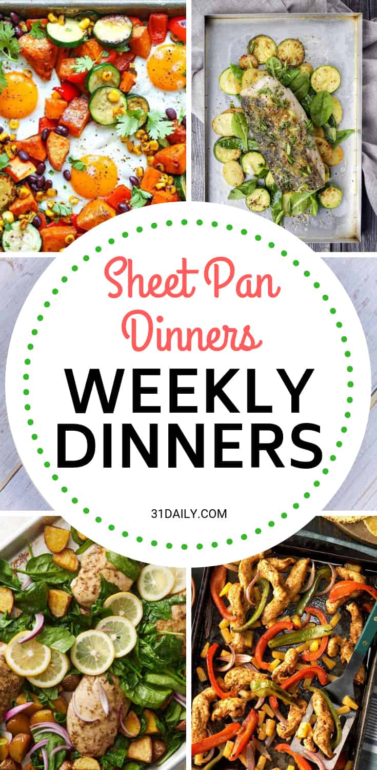 Weekly Dinner Meal Plan // Week 50: Sheet Pan Dinners | 31Daily.com