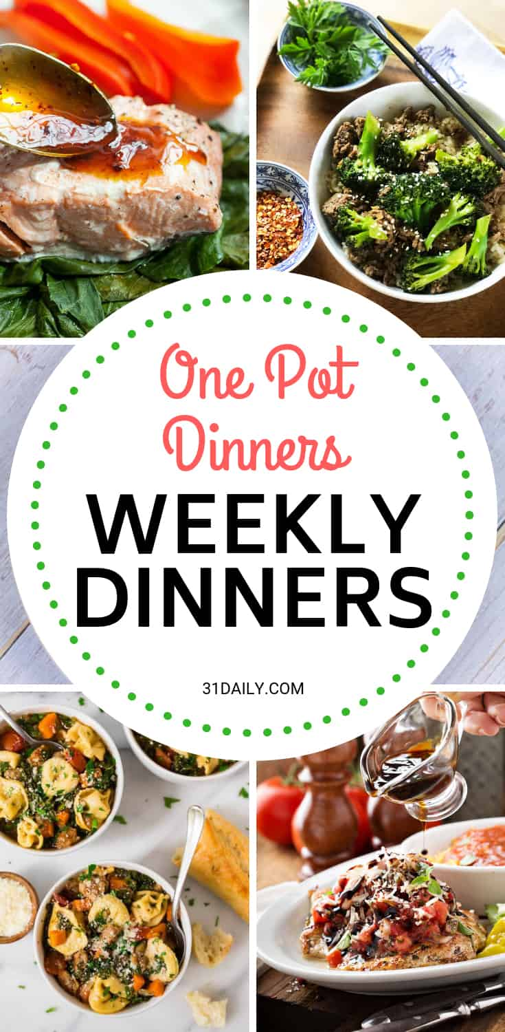 Weekly Dinner Meal Plan // Week 49: One Pot Dinners | 31Daily.com