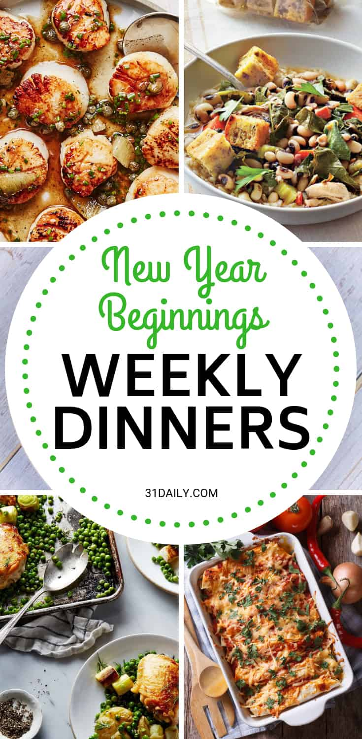 Meal Plan // Week 1: New Year Beginnings | 31Daily.com