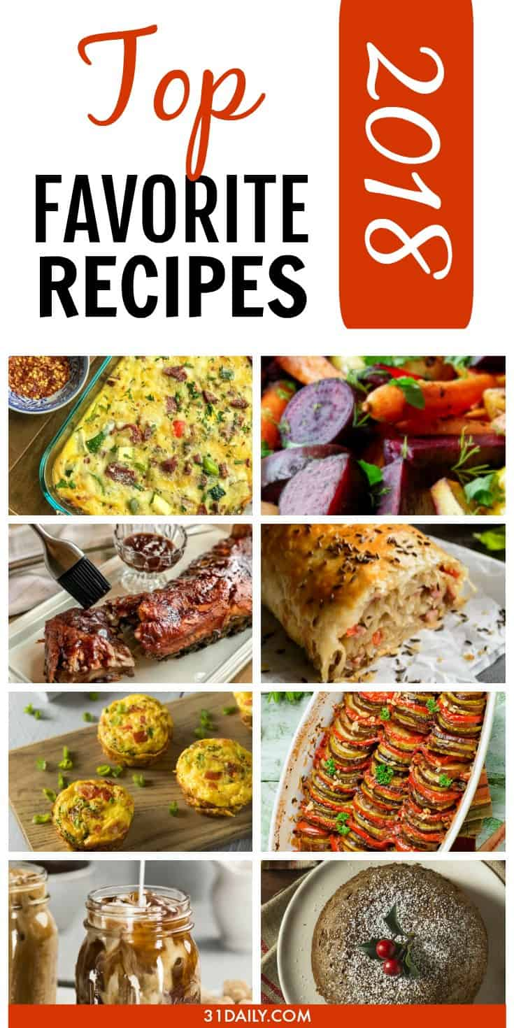 2018 Reader Top Favorite Recipes | 31Daily.com