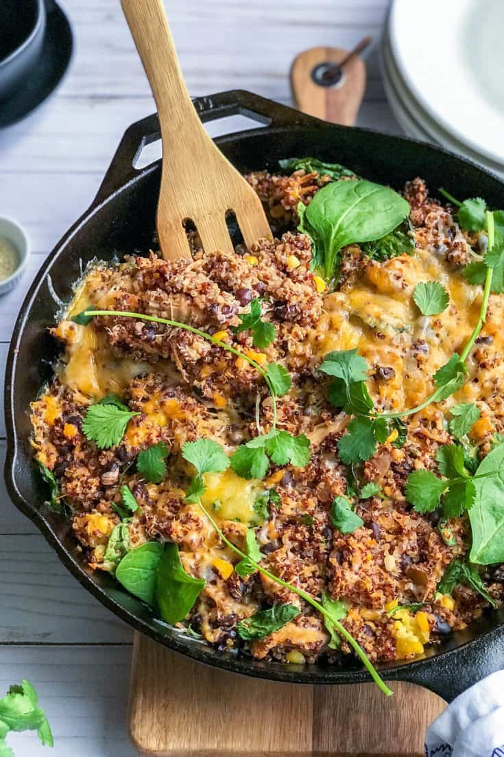 Easy Southwestern Chicken Quinoa Bake with Spinach