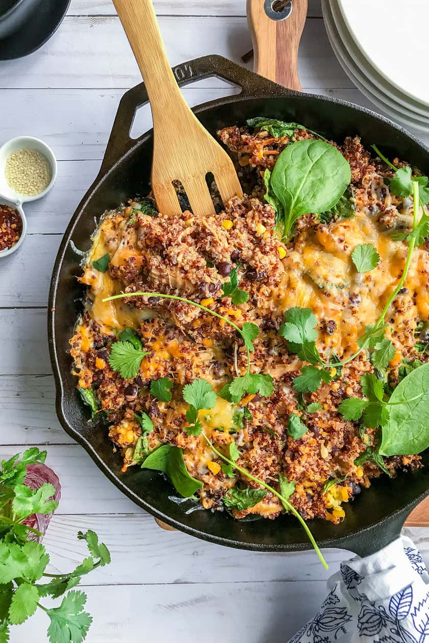 Easy Southwestern Chicken Quinoa Bake with Spinach | 31Daily.com