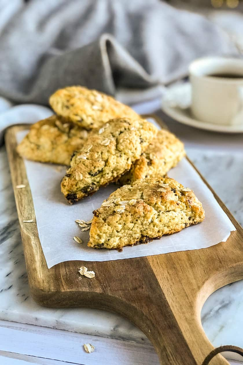 Honey Drizzled Scottish Oat Scones | 31Daily.com