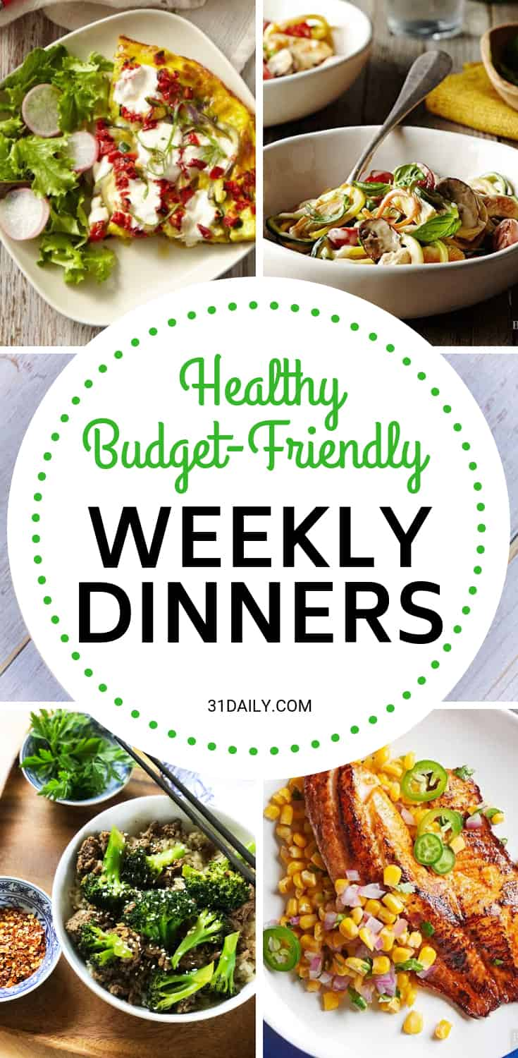 Meal Plan // Week 3: Healthy Budget Friendly Dinners | 31Daily.com
