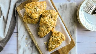 Honey Drizzled Scottish Oat Scones