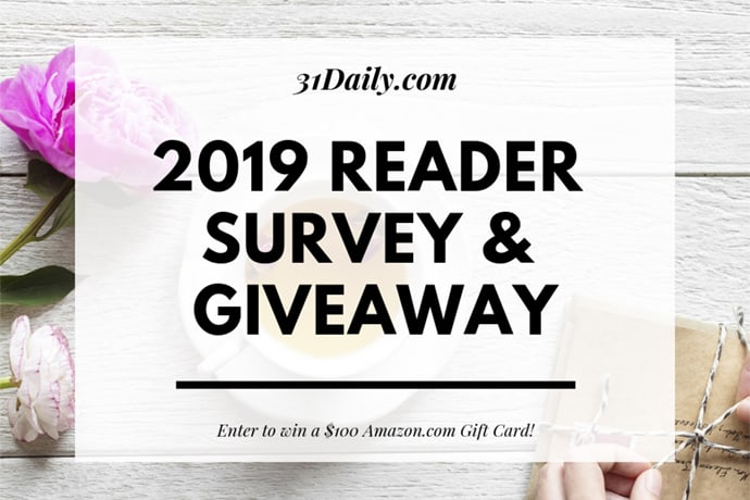 2019 Reader Survey and $100 Amazon Giveaway