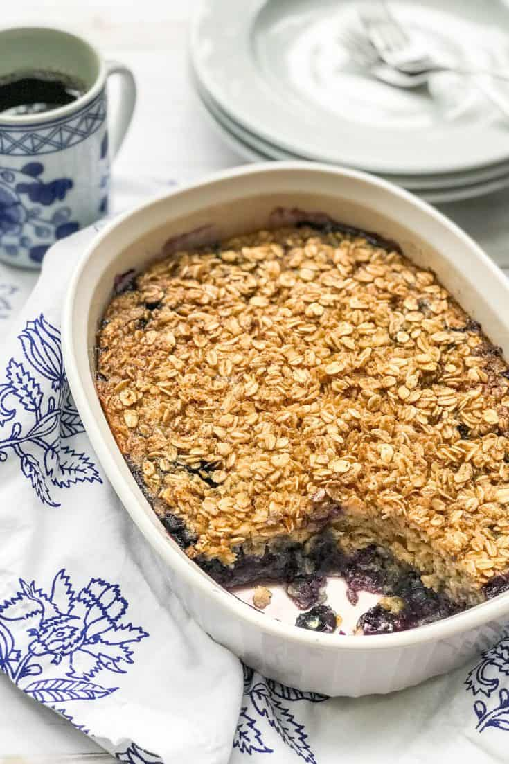 Blueberry Amish Baked Oatmeal