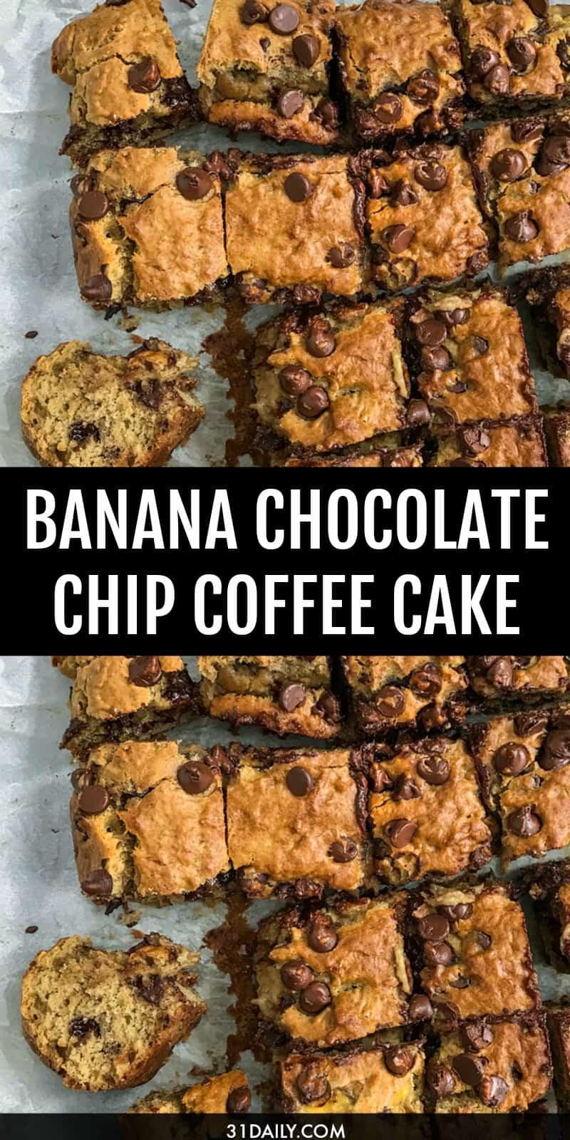 Easy Banana Chocolate Coffee Cake | 31Daily.com