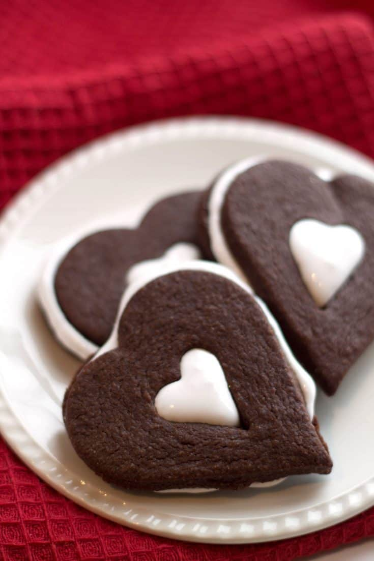 Chocolate Marshmallow Sandwich Cookies