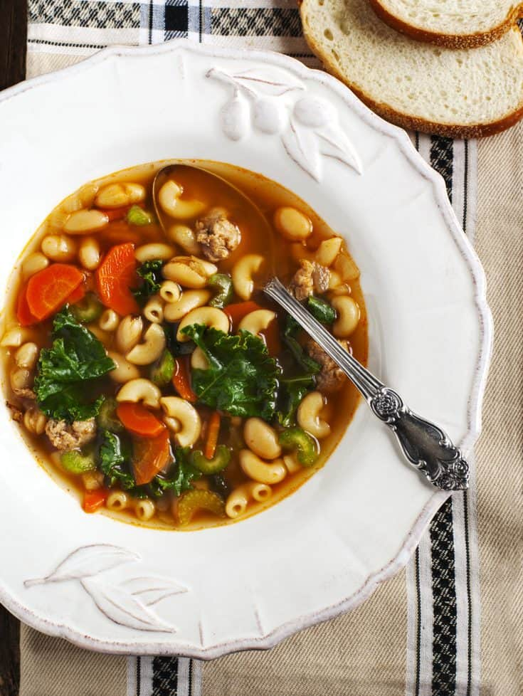 Easy Instant Pot Turkey Vegetable Pasta Soup