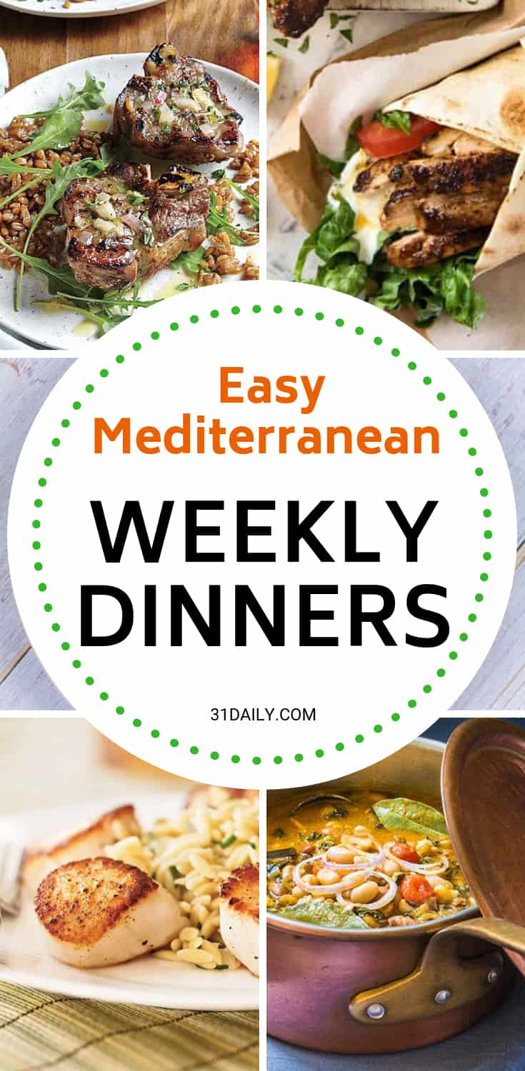 Meal Plan // Week 7: Easy Mediterranean Dinners | 31