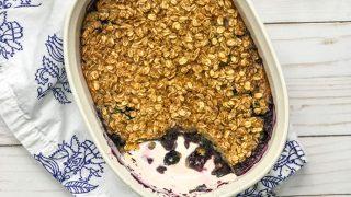 Blueberry Amish Baked Oatmeal