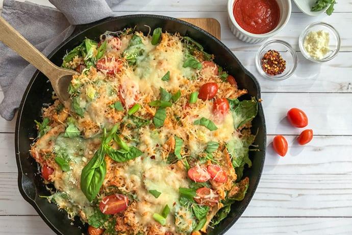 Skillet Italian Chicken Quinoa Bake | 31Daily.com