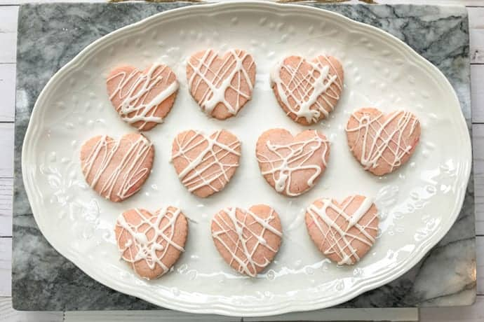 Valentine's Day Strawberry Heart Cookies