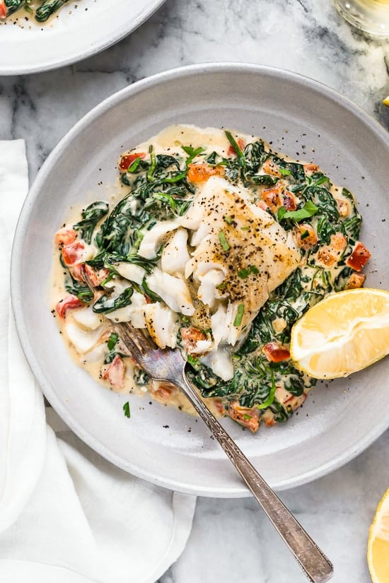 Fish Florentine for 45 Easy Lent Recipes for the Lenten Season