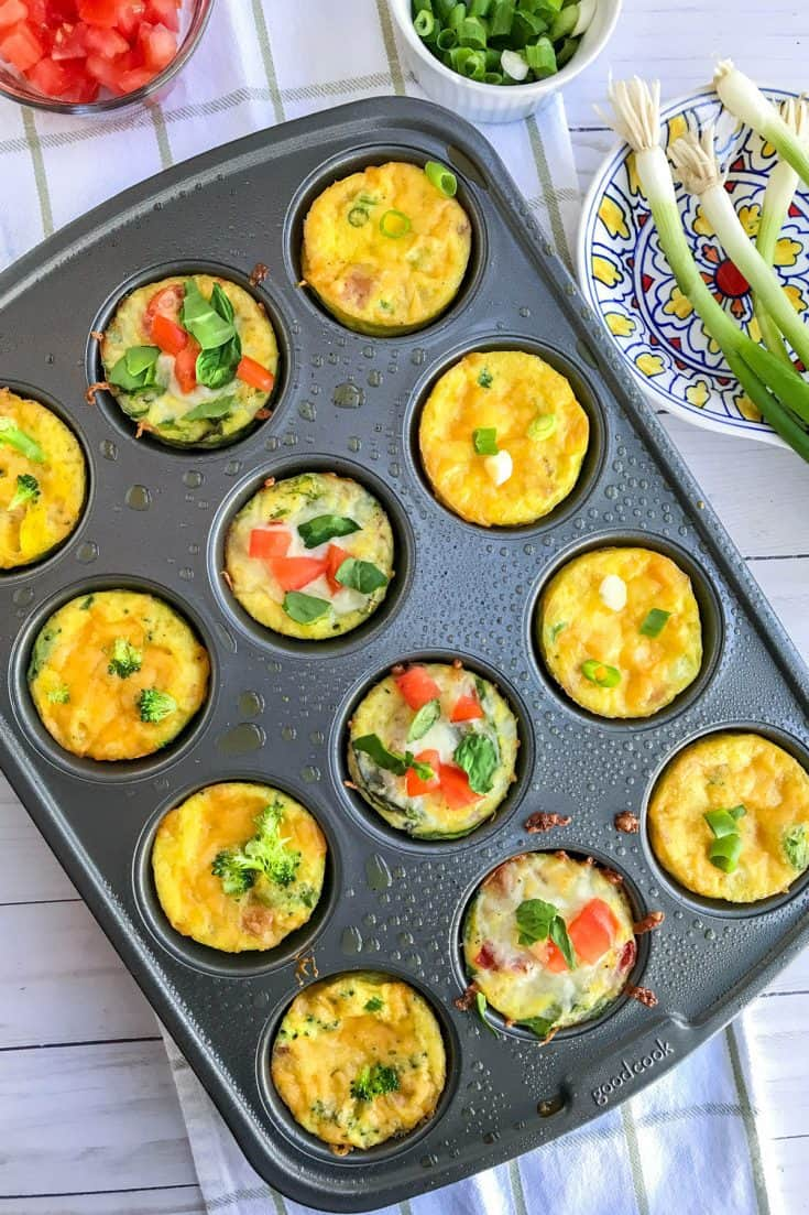 Make Ahead Meal Prep Mini Frittatas in Muffin Tins